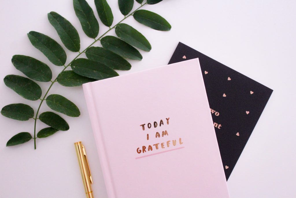 Journaling is a great way for your personal growth to start with gratitude